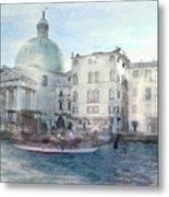 Venice Grand Canal Watercolour  Metal Print
