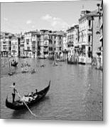 Venice In Black And White Metal Print