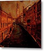 Venice In Golden Sunlight Metal Print