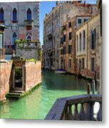 Venice Italy Canal And Lovely Old Houses Metal Print
