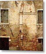 Venice Italy Crumbling Stucco Wall Metal Print