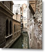 Venice One Way Street Metal Print by Milan Mirkovic
