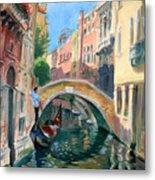 Venice Ponte Widmann Metal Print