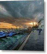 Venice Promenade Metal Print