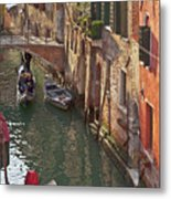 Venice Ride With Gondola Metal Print
