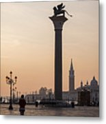 Venice - Winged Lion Of St Mark Metal Print