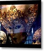 Venician Masks Metal Print