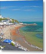 Ventnor Beach And Seafront Metal Print