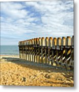 Ventnor Beach Groyne Metal Print
