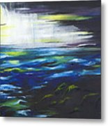 Ventura Seascape At Night Metal Print