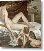 Venus And Cupid Metal Print