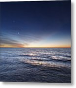 Venus And Jupiter In Conjunction Metal Print