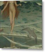 Venus Born Of The Sea Foam  The Birth Of Venus, Detail Metal Print