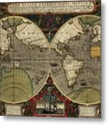 Vera Totius Expeditionis Nauticae Of 1595 Metal Print