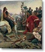 Vercingetorix Throws Down His Arms At The Feet Of Julius Caesar Metal Print