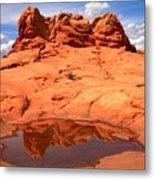 Vermilion Cliffs Reflections Metal Print