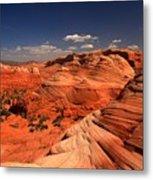 Vermilion Cliffs Rugged Landscape Metal Print