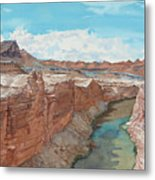 Vermilion Cliffs Standing Guard Over The Colorado Metal Print