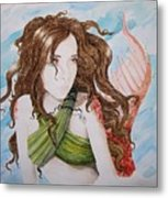 Vermillion Mermaid Metal Print