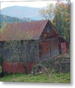 Vermont Barn Metal Print