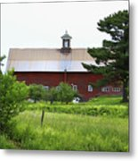Vermont Barn With Tire Swing Metal Print