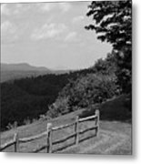 Vermont Countryside 2006 Bw Metal Print