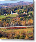 Vermont Countryside View Pownal Metal Print