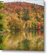 Vermont Fall Foliage Reflected On Pogue Pond Metal Print