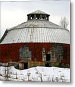 Vermont Round Barn Metal Print