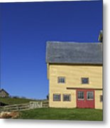 Vermont Yellow Barn 8x10 Ratio Metal Print