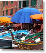Vernazza Boats Metal Print