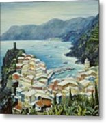 Vernazza Cinque Terre Italy Metal Print by Marilyn Dunlap