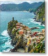 Vernazza, Cinque Terre, Liguria, Italy Metal Print