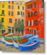 Vernazza Fleet Metal Print