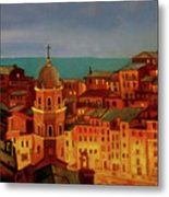Vernazza Twilight Metal Print