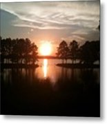 Vernon Lake Sunset 1 Metal Print