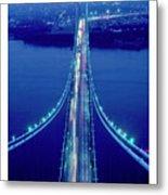 Verrazano Bridge, Ny Metal Print
