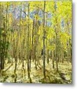 Vertical Aspen Forest Metal Print