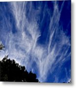 Vertical Clouds Metal Print