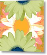 Vertical Daisy Collage II Metal Print