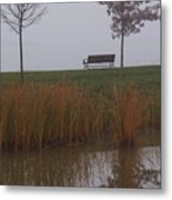 Vertical Reflection Metal Print