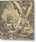 Vertumnus And Pomona, 1605  Metal Print