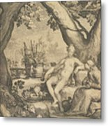 Vertumnus And Pomona Metal Print