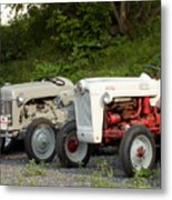Very Old Ford Tractors Metal Print
