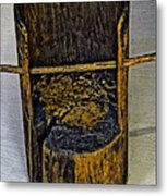 Very Very Ancient Chair For Kids. Metal Print