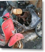Vespa Scooter Metal Print