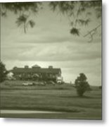 Vesper Hills Golf Club Tully New York Antique 02 Metal Print