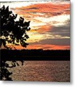Veteran's Lake Sunset Metal Print