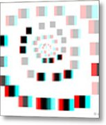 Vexer 2 - Use Red-cyan 3d Glasses Metal Print