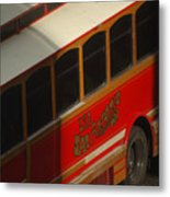Via San Antonio Trolley Metal Print